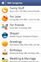 Screenshot of SMS FunBook (SMS Collection)