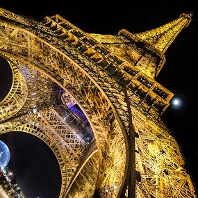 by Nesrine el Khatib - Buildings & Architecture Public & Historical ( paris, nighttime in the city, night life, park at night, street at night, city at night, nightlife )