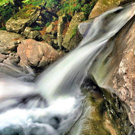 A little waterfalls in  Appennino by Marco Poli - Landscapes Waterscapes