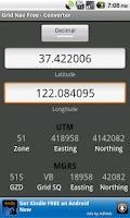 Screenshot of Grid Nav Free MGRS Utility