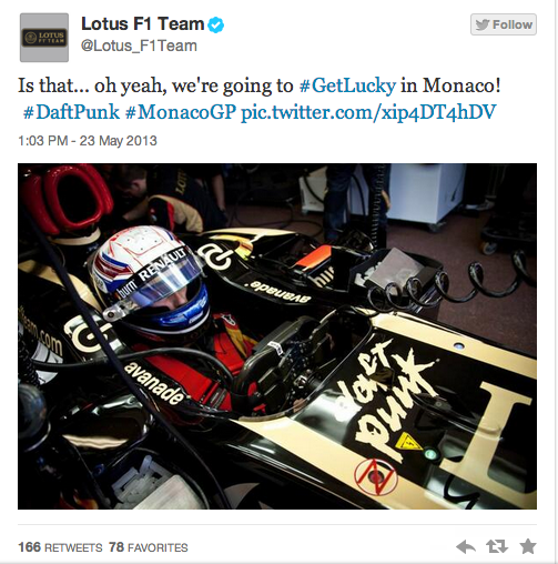 Lotus F1 and Daft Punk Monaco Grand Prix
