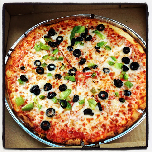 GF Pizza Green Peppers, Olives, & Onions