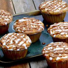 Buttermilk-Maple French Toast Muffins with Cinnamon Streusel and Maple-Buttermilk Glaze