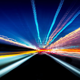 Highway  by Andrea Pagin - Abstract Light Painting ( highway italia d610 )
