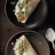 Tacos with Pork in Green Sauce (Tacos de cerdo en salsa verde)