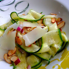 Zucchini Ribbon Salad with Manchego and Almonds
