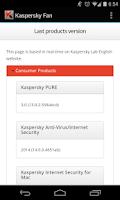 Screenshot of Kaspersky Fan