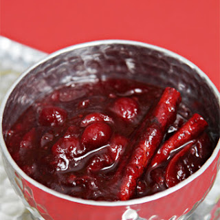 Cranberry-Port Compote with Cinnamon and Orange Zest