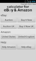 Screenshot of Calculator for Amazon & eBay
