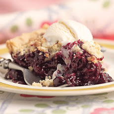 Wild Blueberry Pie with Almond Crumble Topping
