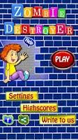 Screenshot of Zombie Destroyer Brick Breaker