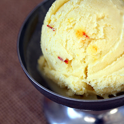 Quick Coconut Ice Cream Recipe with Saffron