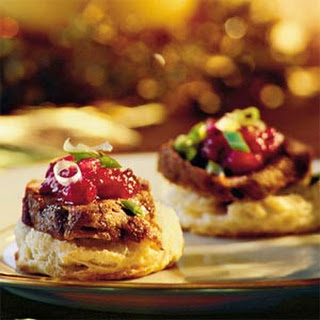 Pork Tenderloin on Cornmeal Biscuits