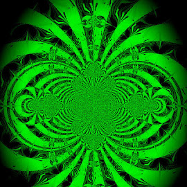Seeing In Night Vision by Yvonne Collins - Digital Art Abstract ( edited, abstract, night vision, digital art, photography )