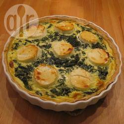 Quiche Met Bacon, Spinazie En Geitenkaas