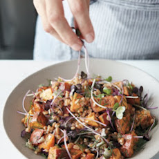 Roasted Sweet-Potato and Farro Salad