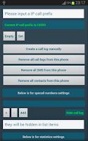 Screenshot of Call Log