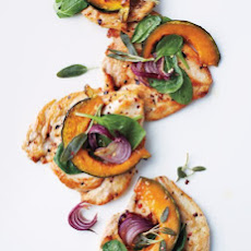 Chicken Paillards with Squash and Spinach
