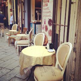 Cafe by Kseniya Maksimenko - City,  Street & Park  Street Scenes ( cafe )