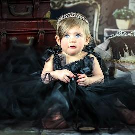 Formal Attire by Sharon Fuscellaro Canale - Babies & Children Child Portraits ( girl, tutu, female, crown, audrey hepburn, dress up, baby, black )