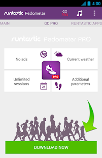 App Runtastic Pedometer Step Count apk for kindle fire