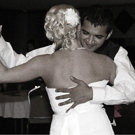 First Dance by Jill Rowlan - Wedding Reception ( black and white, wedding, wedding dress, Wedding, Weddings, Marriage )