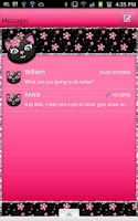 Screenshot of GO SMS - Kitty Flower Cat