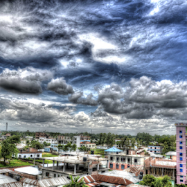 The City Under Cloud by Shafiqul Shiplu - Landscapes Cloud Formations ( clouds, skyline, hdr, city )
