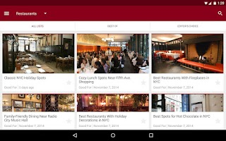 Screenshot of Zagat