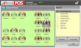 Screenshot of Alliance WebPOS Mobile