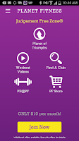 Screenshot of Planet Fitness