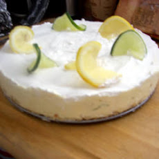 Daiquiri Chiffon Cheesecake with Pretzel Crust