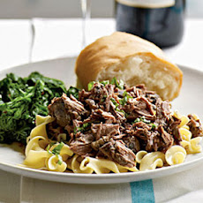 Zinfandel-Braised Leg of Lamb