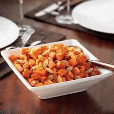 Roasted Almonds Sweet Potatoes