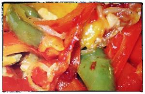 Pimientos asados - Tapas (roast pepper salad)