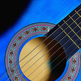 by Dipali S - Artistic Objects Musical Instruments ( music, song, blue, sound, melody, guitar )