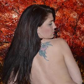 Flower Shoulder Tatt by Kimberly Kunik - People Body Art/Tattoos