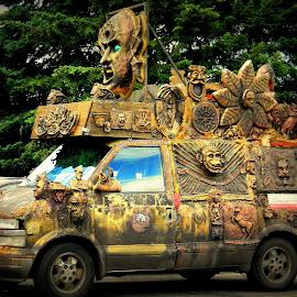 The funky van by Liz Hahn - Transportation Automobiles
