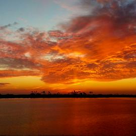 Bayside Sunset 2 by Silvan Saria - Landscapes Sunsets & Sunrises ( amazing, orange, sunset, beautiful, fire, photography,  )