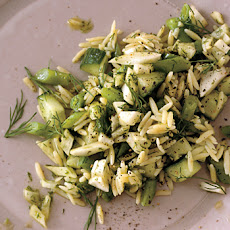 Orzo, Green Bean, and Fennel Salad with Dill Pesto