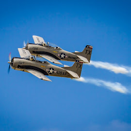 Texas Twins by Ron Meyers - Transportation Airplanes