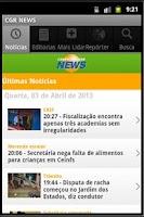 Screenshot of Noticias