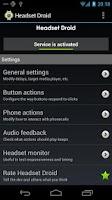 Screenshot of Headset Droid Trial