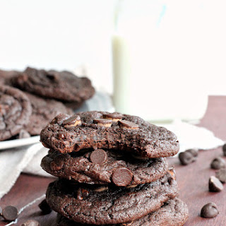 4 Ingredient Double Chocolate Cookies