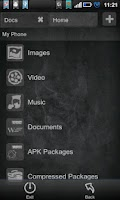 Screenshot of File Expert Ghost Black Theme