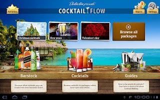 Screenshot of Cocktail Flow Tablet