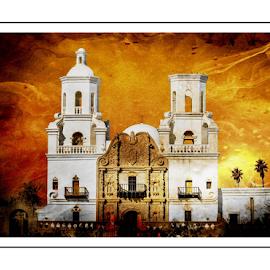 Mission San Xavier del Bac by Michael Moriarty - Digital Art Places ( church, mission, digital art, arizona, tucson, sanxavier )