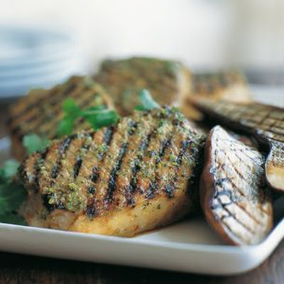 Lemongrass Pork Chops and Eggplant