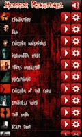 Screenshot of Horror ringtones