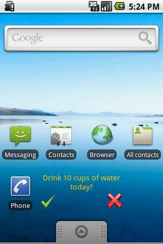 Daily Task Alert Widget